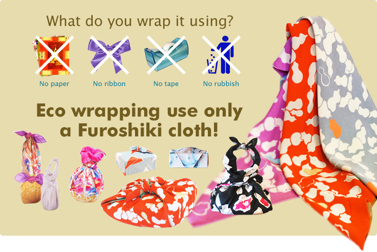eco wrapping use only a cloth!