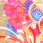 30% OFF! Pink flower basket -Hanakago- (M) Furoshiki