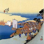 The Fifty-three Stations of the Tokaido -Shinagawa- Furoshiki