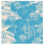 Furoshiki Tapestry Lotus Hasu Blue