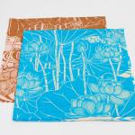 Tapestry Lotus -Hasu- Blue (M) Furoshiki