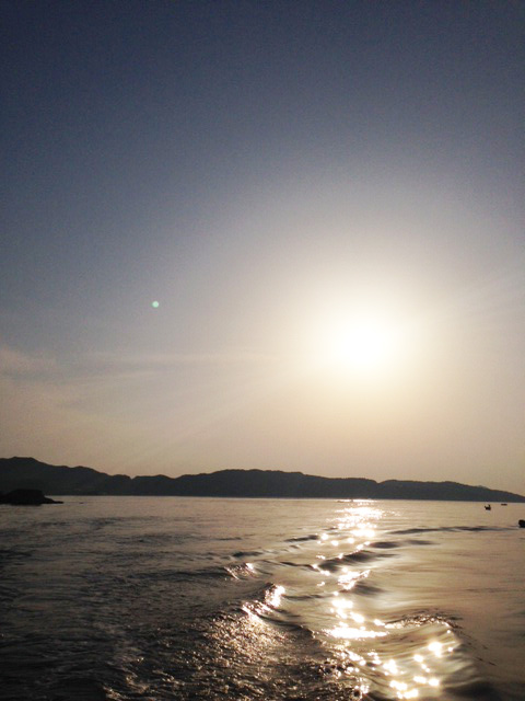 Sun set of Seto Inland Sea