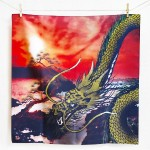 Golden dragon with pine (M) Furoshiki
