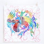 Phoenix with arabesque -Houou- (M) Furoshiki