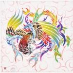 Phoenix with arabesque -Houou- (S) Furoshiki