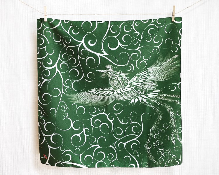 Firebird with arabesque -Hi no tori- (M) Furoshiki