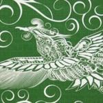30% OFF! Firebird with arabesque -Hi no tori- (S) Furoshiki