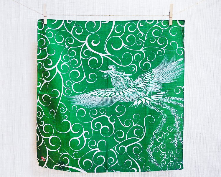 Firebird with arabesque -Hi no tori- (S) Furoshiki