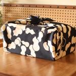 Gourd Black-Hyoutan- (L/Cotton) Furoshiki