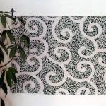Arabesque -Karakusa- Green(L) Furoshiki