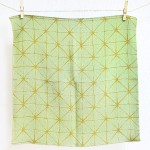 Star hemp Green-Asa- Furoshiki