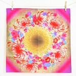 30% OFF! Pink flower basket -Hanakago- (S) Furoshiki