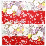 Full bloom -Shima- Red Furoshiki