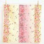 Pink Snow cherry blossom -Sakura chirashi- Purple (S) Furoshiki