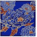 Dancing Peony Blue (L) Furoshiki