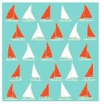 Yacht Light-blue Furoshiki