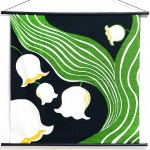 Tapestry Lily of the vally -Suzuran- Black(M) Furoshiki