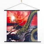 Tapestry Golden dragon with pine (M) Furoshiki