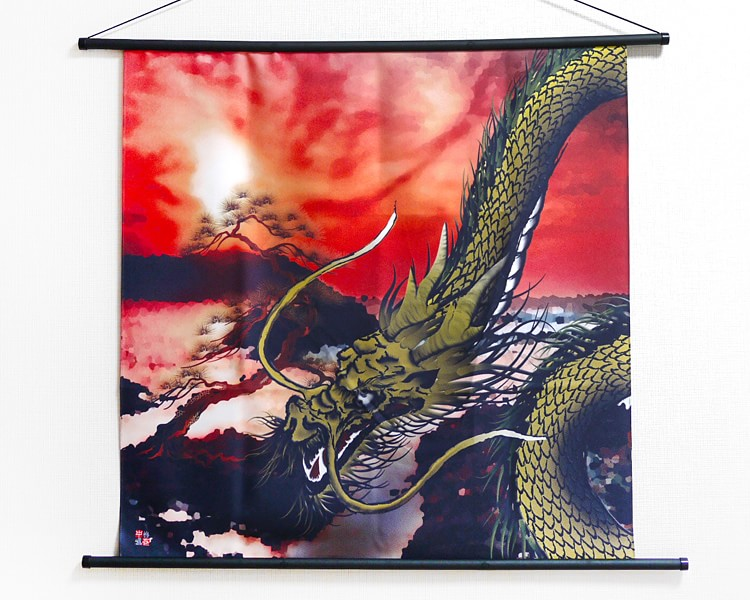 Tapestry Golden dragon with pine (M) Furoshiki