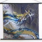 Tapestry Rising dragon -Nobori ryu- (M) Furoshiki