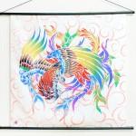 Tapestry Phoenix with arabesque -Houou- (M) Furoshiki