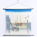 Tapestry The Fifty-three Stations of the Tokaido -Nihonbashi- (M) Furoshiki