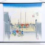 Tapestry The Fifty-three Stations of the Tokaido -Nihonbashi- (M) Furoshiki
