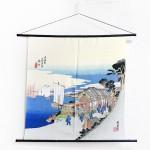 Tapestry The Fifty-three Stations of the Tokaido -Shinagawa- (M) Furoshiki