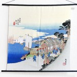 Tapestry The Fifty-three Stations of the Tokaido -Shinagawa- (M) Furoshiki