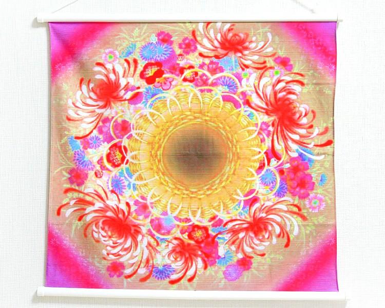 30% OFF! Tapestry Pink flower basket -Hanakago- (S) Furoshiki