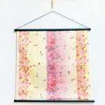 Tapestry Pink Snow cherry blossom -Sakura chirashi- Purple (S) Furoshiki