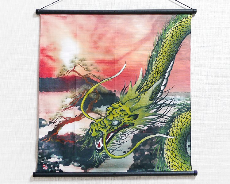 Tapestry Golden dragon with pine (S) Furoshiki
