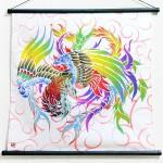 Tapestry Phoenix with arabesque -Houou- (S) Furoshiki