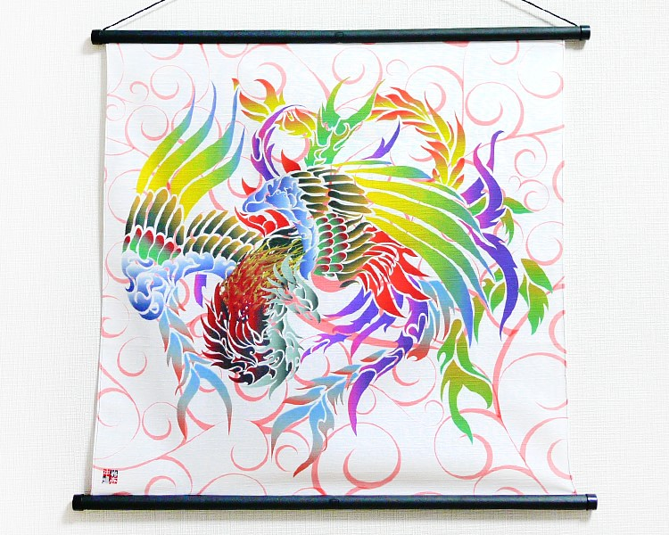 Tapestry Phoenix with arabesque -Houou- (S) Furoshiki
