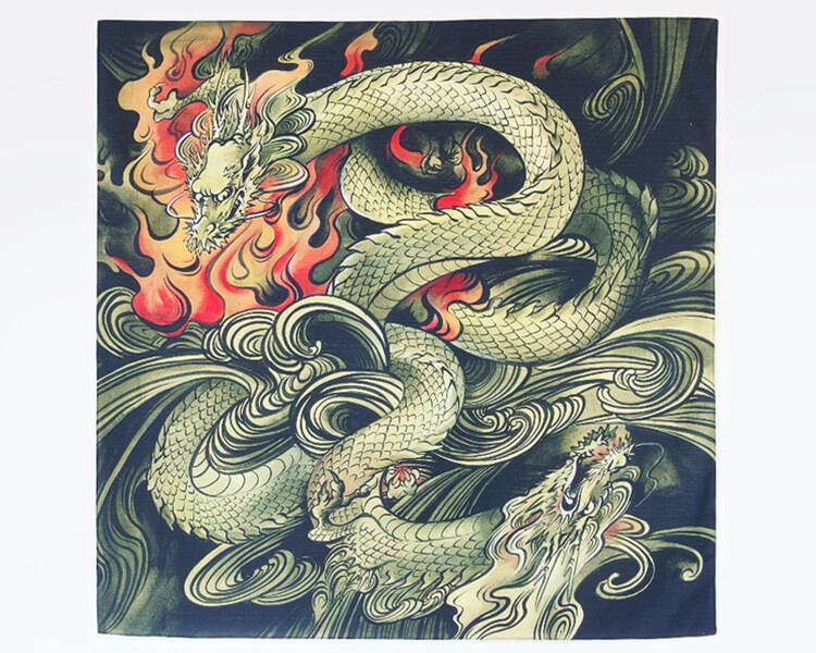 Twin dragons (L) Furoshiki