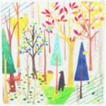Paradise in the forest (L) Furoshiki