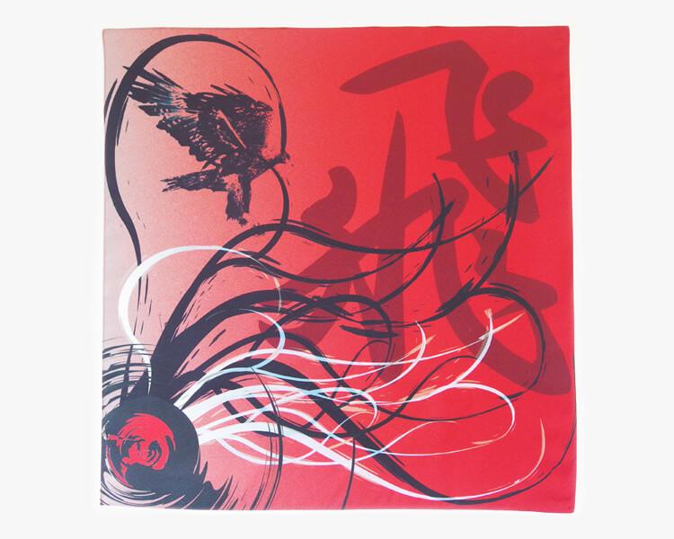 Kanji Furoshiki -Fly- Red (M) Furoshiki