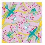 Birds eating Flowers Pink (L) Furoshiki