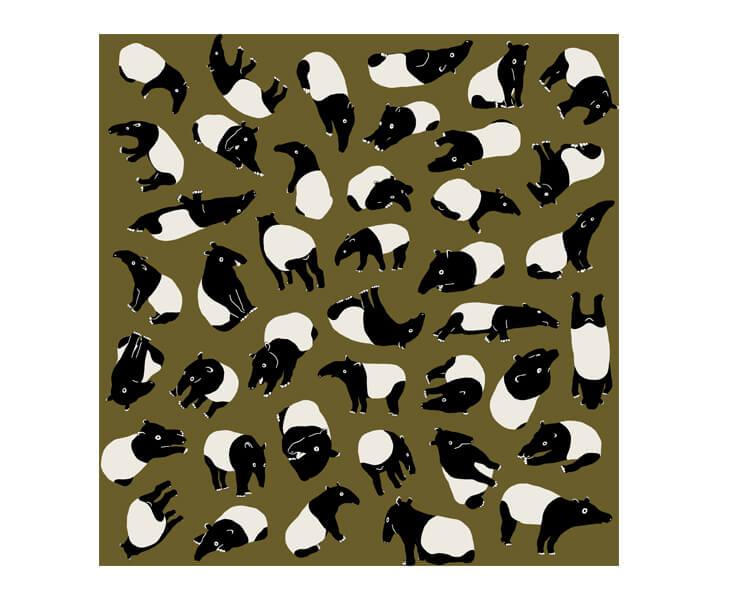 Tapirs (L) Furoshiki